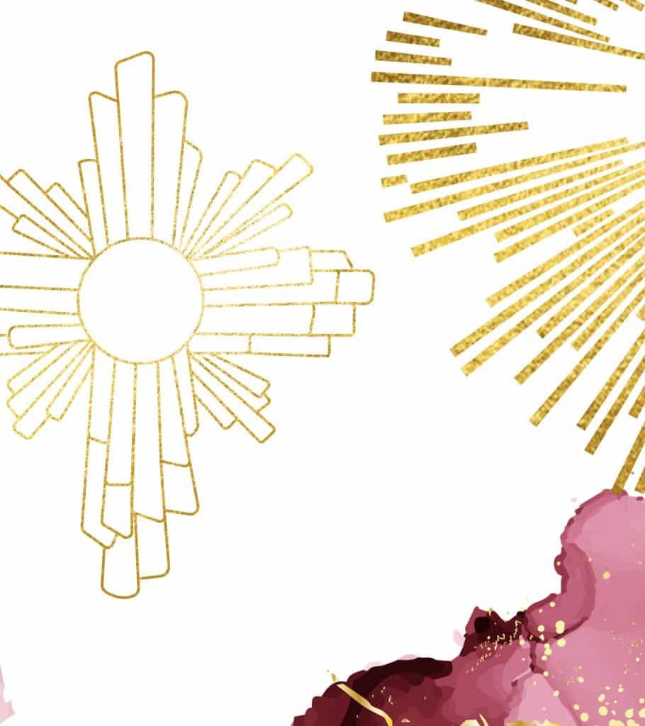 jesus radiant sun symbol
