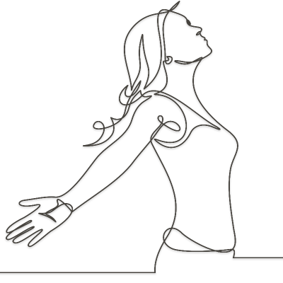 line icon of woman praying